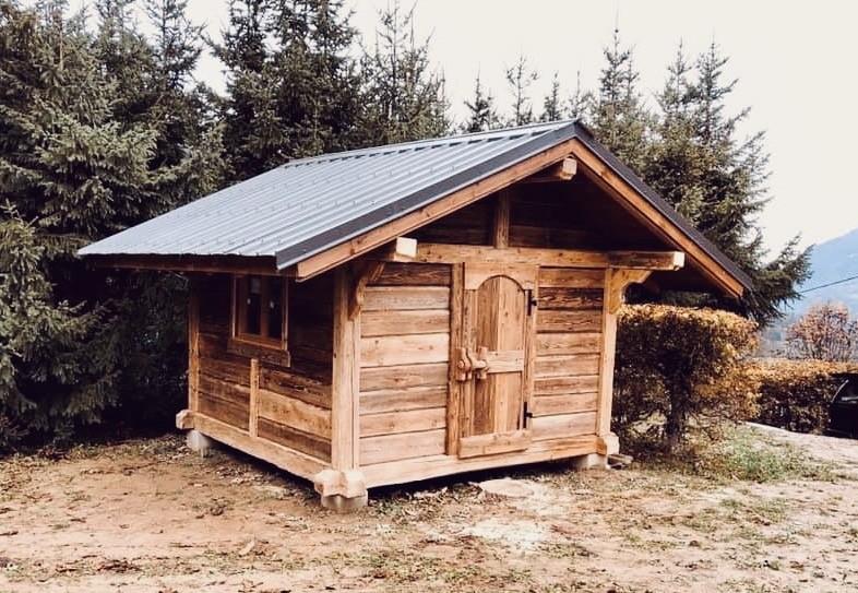 Poteaux poutres madriers 10 m²