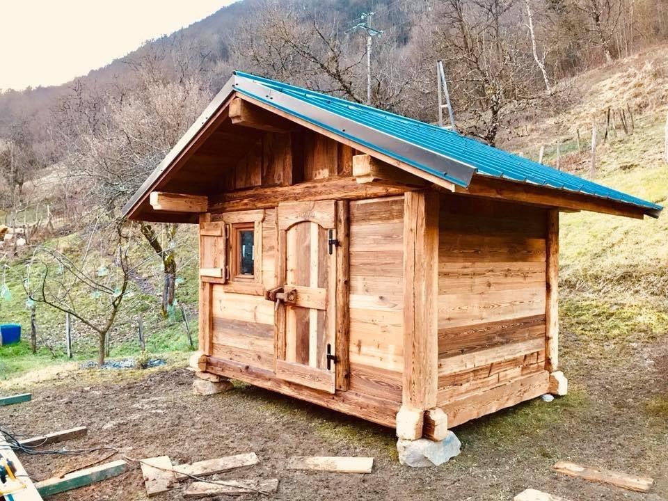 Poteaux poutres madriers 7 m²
