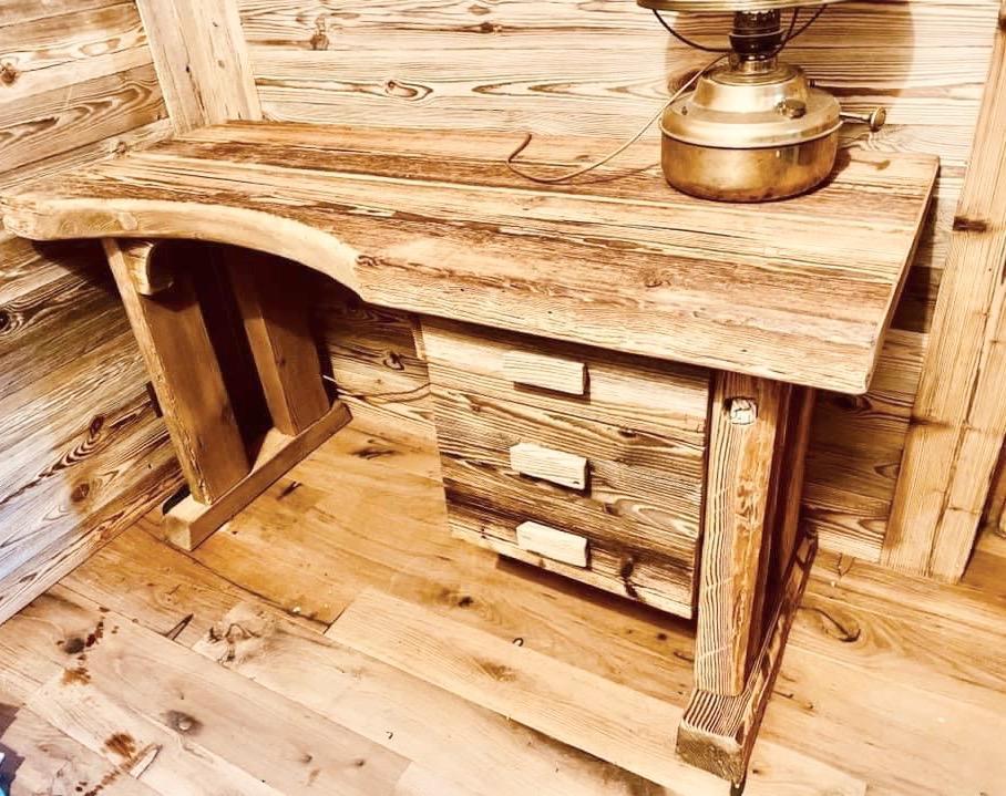 Bureau vieux bois 2